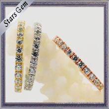Cubic Zirconia 925 prata esterlina moda jóias para mulher