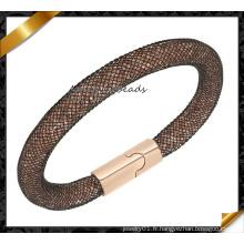 Fashion Crystal Mesh Magnetic Stardust Bracelet, Hot Sale Bracelets (FB0127)