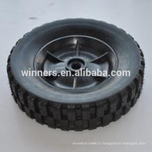 8 pouces petite roue en caoutchouc solide en plastique
