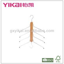 Mutifunction espaço poupança de madeira camisa gancho