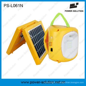 Портативный силы 4500mah 6V солнечных фонарь и Лампа с телефона зарядное устройство для кемпинга или аварийного освещения (только PS-L061)