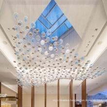Modern contemporary decorative restaurant indoor decoration glass chandelier