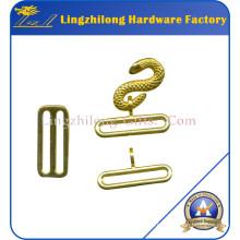 Chapas de serpiente masónicas chapadas en oro de aleación de metal