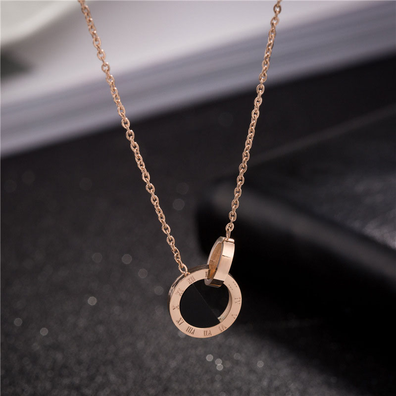 Womens Necklace Rose Gold
