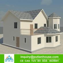 Low cost prefab module house luxury villa prefabricated