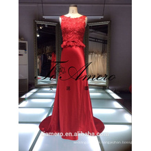 1A215 Real Picture Top Quality China Factory Made Lace Red Wedding Dress