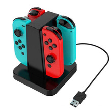 4 Slot For Joy-Con Charging Stand Dock Station Indicator For Nintend Switch For NS Joy-Con Charging Storage Holder