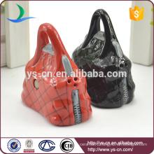 Kitchenware Gift Elephant Ceramic Salt & Pepper Handbag Shaker Set