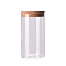 Custom logo hot sale biscuit wood lid small glass jar for food coffee glass jars
