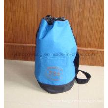 Advertisement Polyester Round Duffer Drawstring Bag