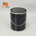 Recipiente de metal preto de 1 galão para tinta