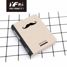 Custom man style hard cover notebook