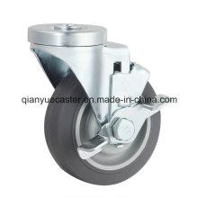Roulette pivotante à rouleaux à boulons, à roulettes latérales TPR Roulette