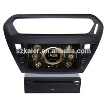 Горячие продажи сенсорный экран вздрагивания автомобиль мультимедиа на Пежо 301 с GPS и 3G/ДВД/блютус/док/Формат RMVB/РДС