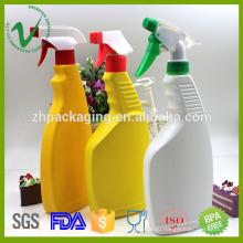 ПЭВП, заполненная плоской пустой жидкой пластиковой бутылкой для моющих средств с триггерным распылителем