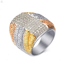 Top Sale Good Quality Stainless Steel Crystal Rings Jewelry