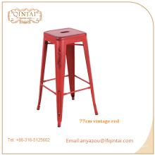 Taburete de bar industrial de hierro industrial de muebles de bar comercial personalizado