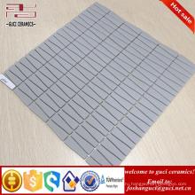 китайский поставщик лента матовая отделка серый кристалл стеклянная мозаика плитка для стены дома дизайн
