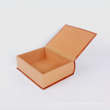 Livre boîte de papier Kraft magnétique boîte-cadeau