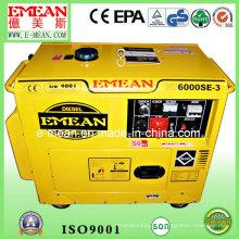 Generador diesel insonoro trifásico silencioso amarillo 5kw