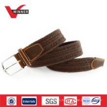 Unisex woven elastic rope braided belt