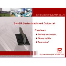 Trilho de guia de aço para elevador (trilho de guia usinado)