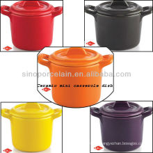 Mini plato de cerámica colorido del horno para BS12086