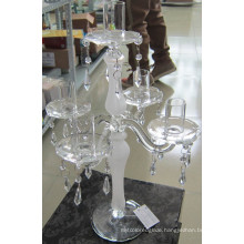 Frosting Glass Candle Holder with Five Posters., ,