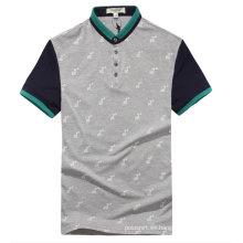 Camiseta de polo de combinación de color de estilo coreano personalizado