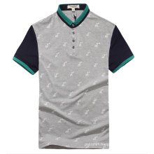 Customized Korean Style Color Combination Polo T Shirt