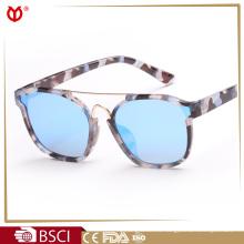 Cramilo metal pc marco mujeres moda r banda tortuga demi mujeres espejo recubrimiento gafas de sol 842