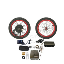 Factory sale high quality motor fat tire 5000W electric snow beach bike kit with sabvoton controller