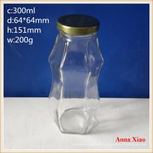 300ml Glass Jucie Bottles with Golden Lids