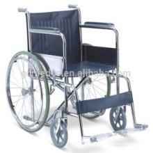 Chaise roulante manuel en acier à l'hôpital W002