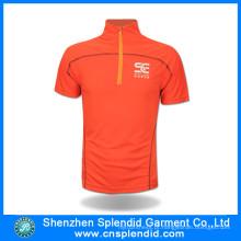 Vestuário Guangdong manga curta laranja respirável Dri Fit Ciclismo Jersey