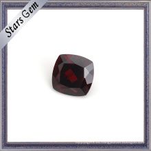 Perfect Blood Red Cushion Piedra preciosa natural granate