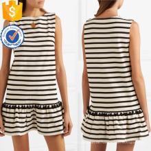 Heißer Verkauf Quaste Weiß Und Schwarz Baumwolle Ärmelloses Minikleid Herstellung Großhandel Mode Frauen Bekleidung (TA0318D)
