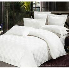 100% Cotton Satin Check Fabric Hotel Textile (WS-2016153)