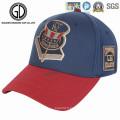 Casquette de baseball bleue de sports de haute qualité brodée par logo de sergé de coton de qualité