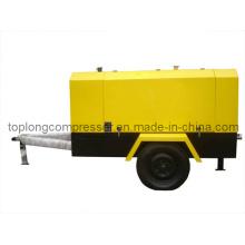 Compresseur à air rotatif à vis rotatif mobile à moteur diesel (TDS-10/7 70kw)