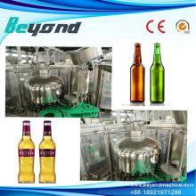 Botella de vidrio Lavadora de cerveza Planta de producción de tapones de relleno