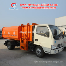 Euro 4 new condition Hydraulic Lifter Garbage truck with 5cbm capacity