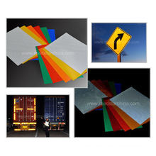 Adhesive Reflective paper with high intensity grade