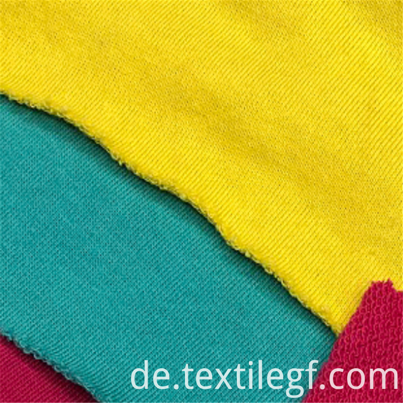 Soft CVC Terry Knitting Hoddies Fabric (3)