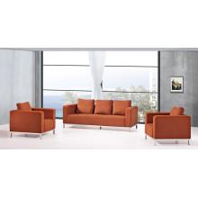 Sofá moderno de sala de estar simples Sofá de couro seccional comercial (RFT-F-3)