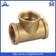 Coupe en laiton à 3 voies en cuivre coudée (YD-6033)