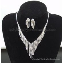 Mode rideaux de Perles verre collier de pierre gemme
