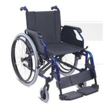 Silla de ruedas de acero y material de aluminio