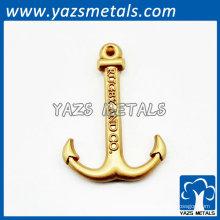 Vergoldung Metallanhänger Anchor Großhandel