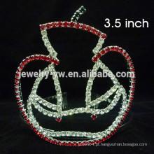 Acessórios de cabelo de fantasia full crystal apple forma baby headband